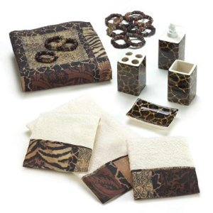 Designer Animal Print Complete Bath Decor Set